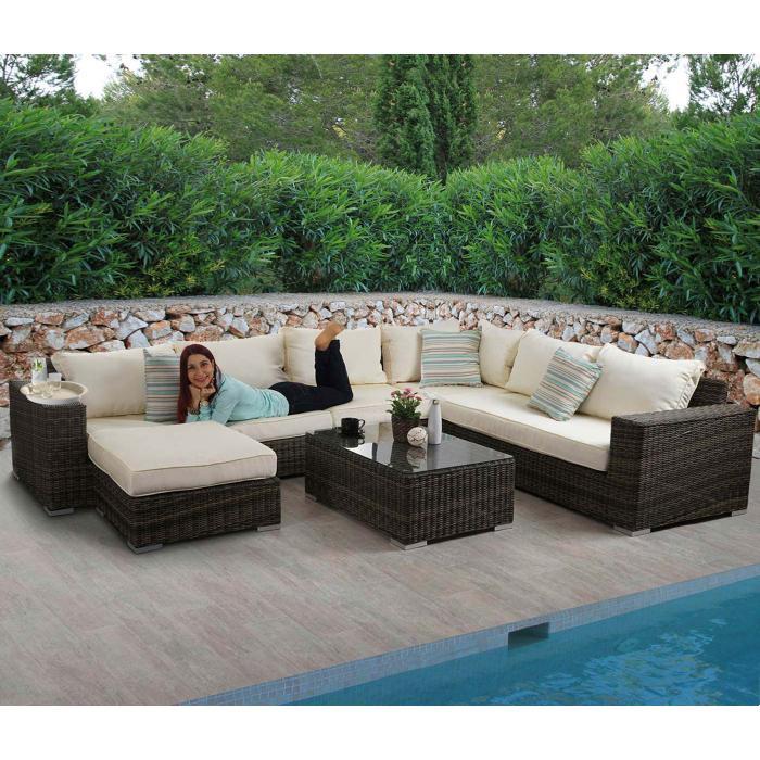 Luxus Poly Rattan Sofa Garnitur Melilla Lounge Set Gartengarnitur