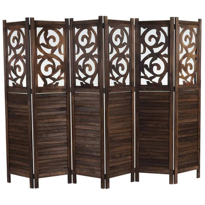 paravent istanbul raumteiler trennwand sichtschutz ornamente 170x240cm braun. Black Bedroom Furniture Sets. Home Design Ideas