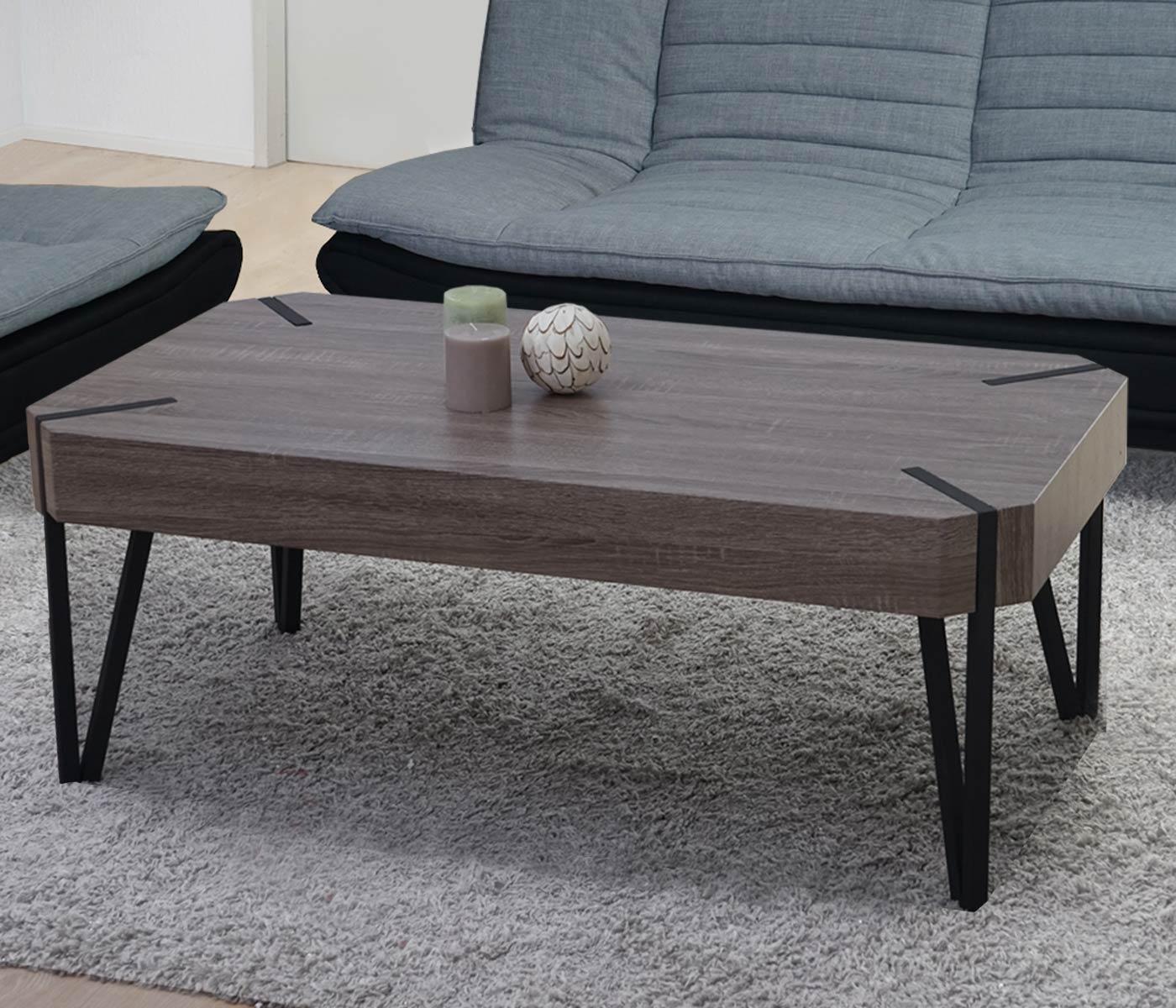 couchtisch kos t573 wohnzimmertisch 43x110x60cm fsc zertifiziert dunkle eiche dunkle. Black Bedroom Furniture Sets. Home Design Ideas