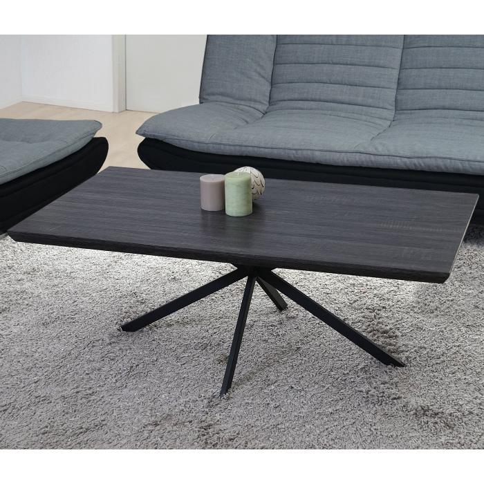 Couchtisch Kos T577 Wohnzimmertisch 40x110x60cm Fsc Zertifiziert Schwarze Eiche Dunkle Metall Fusse