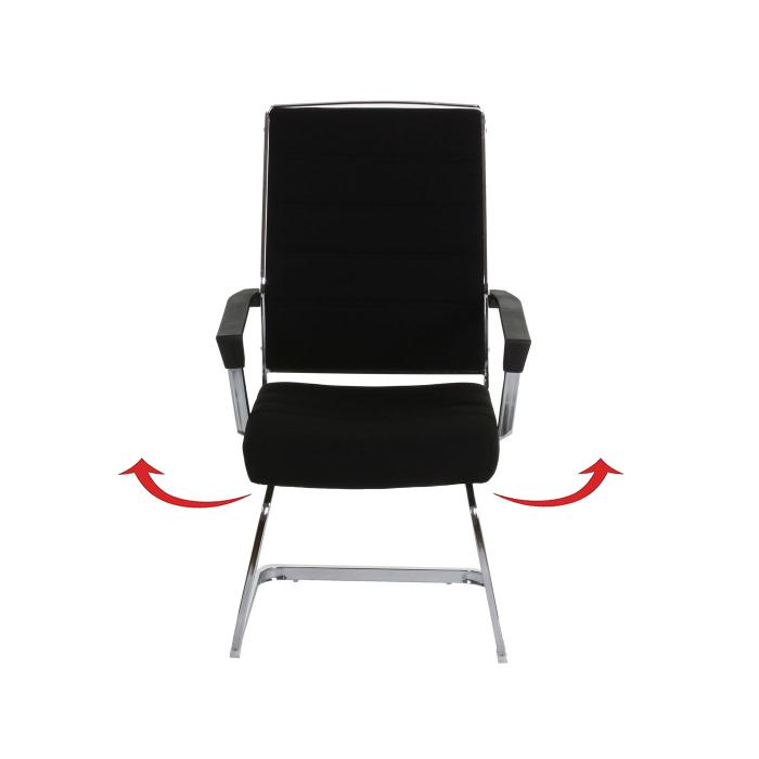 2x konferenzstuhl salamanca besucherstuhl freischwinger drehbar textil schwarz. Black Bedroom Furniture Sets. Home Design Ideas