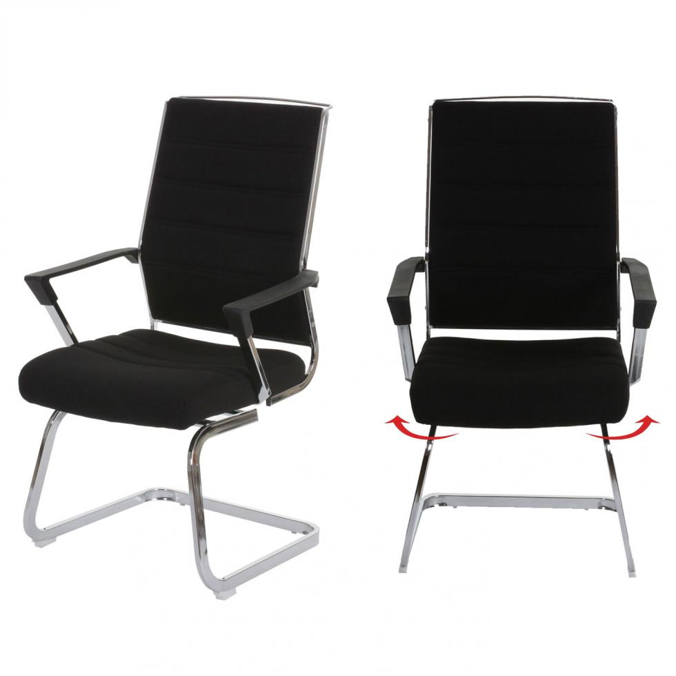 2x konferenzstuhl amora freischwinger drehbar textil schwarz ebay. Black Bedroom Furniture Sets. Home Design Ideas