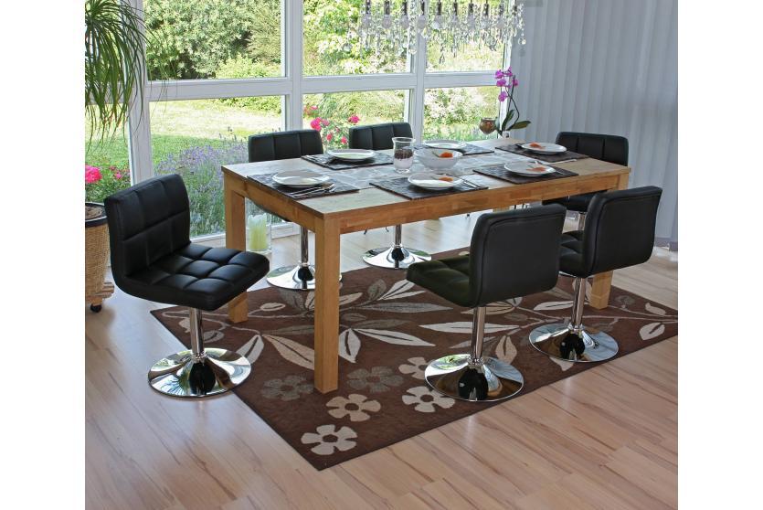 6x esszimmerstuhl drehstuhl stuhl kavala kunstleder chrom schwarz. Black Bedroom Furniture Sets. Home Design Ideas