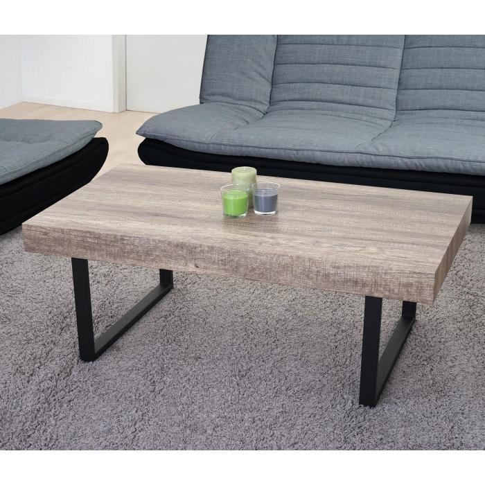 couchtisch kos t576 wohnzimmertisch fsc 40x110x60cm wildeiche dunkle metall f e. Black Bedroom Furniture Sets. Home Design Ideas