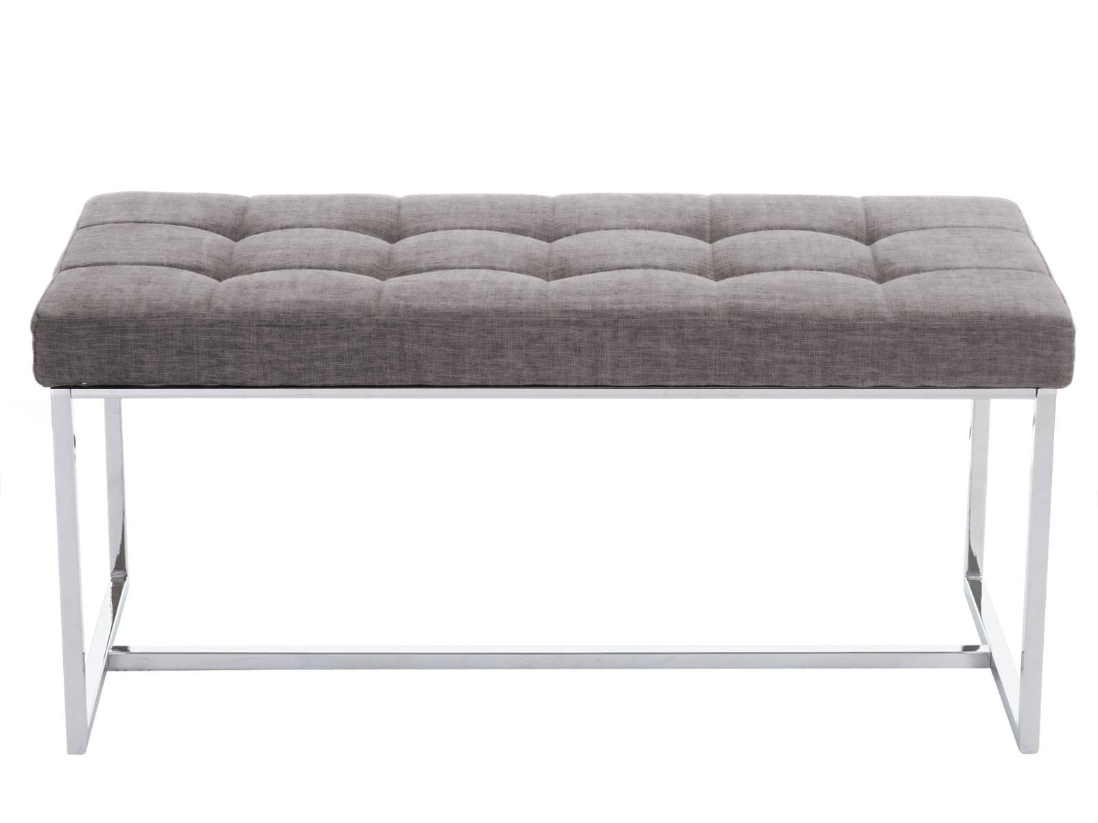 banquette tivoli banc de salle manger 100cm tissu gris ebay. Black Bedroom Furniture Sets. Home Design Ideas