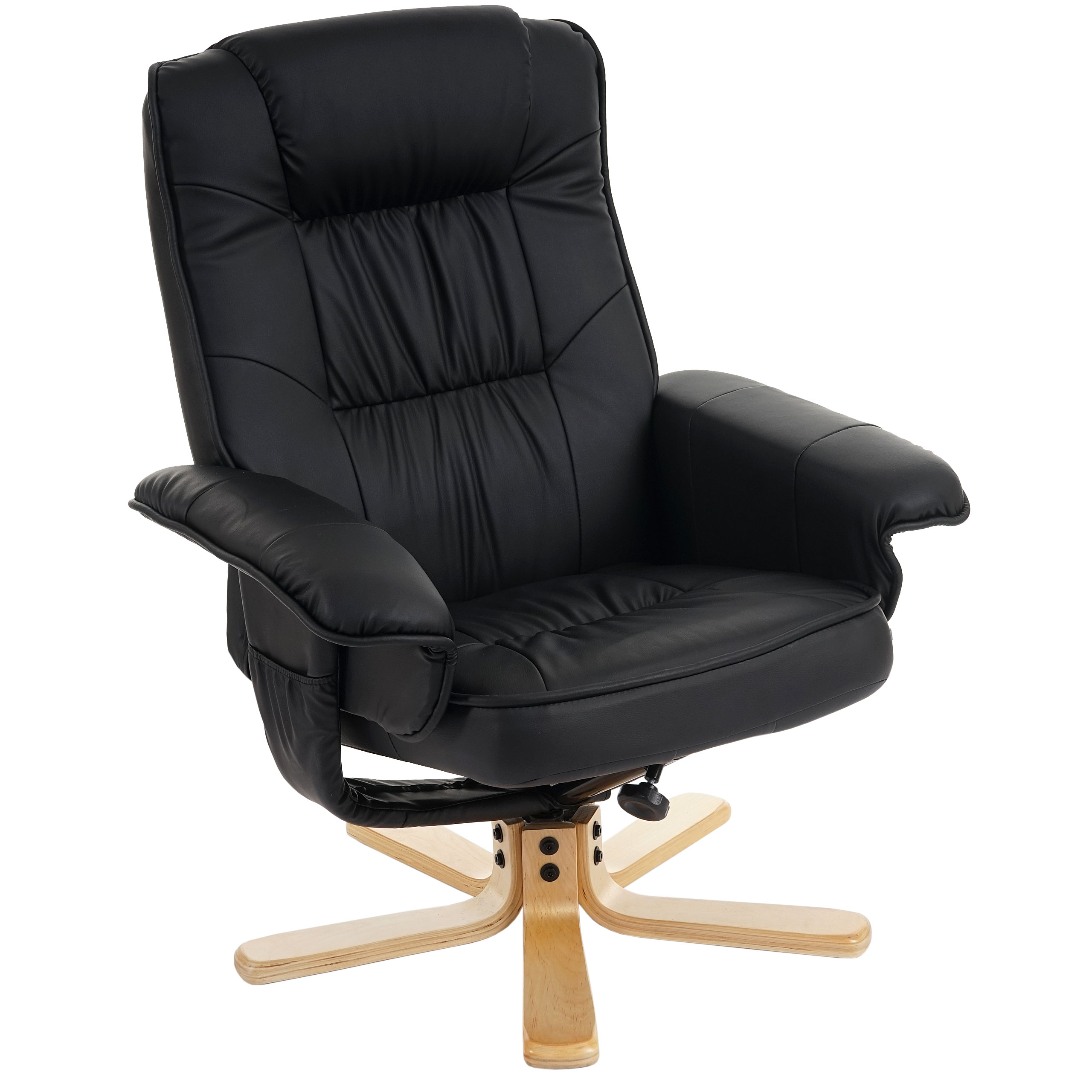 reclining armchair m56 armchair chair optionally with without stool faux leather ebay