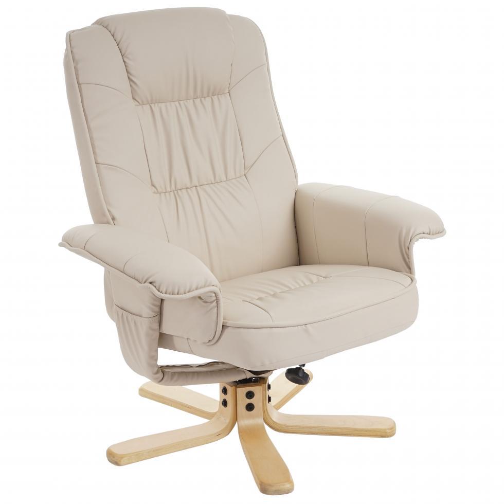 relaxsessel fernsehsessel sessel ohne hocker h56 kunstleder creme ebay