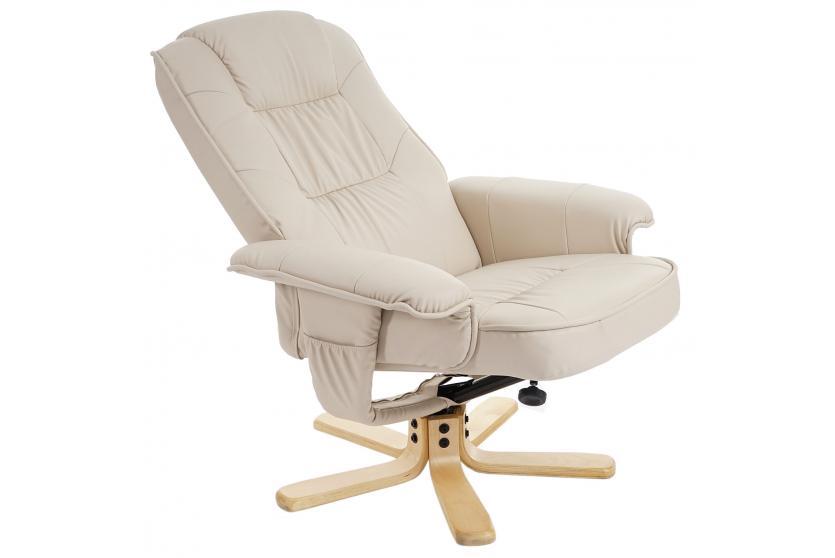 Relaxsessel Fernsehsessel Sessel Ohne Hocker M56 Kunstleder Creme