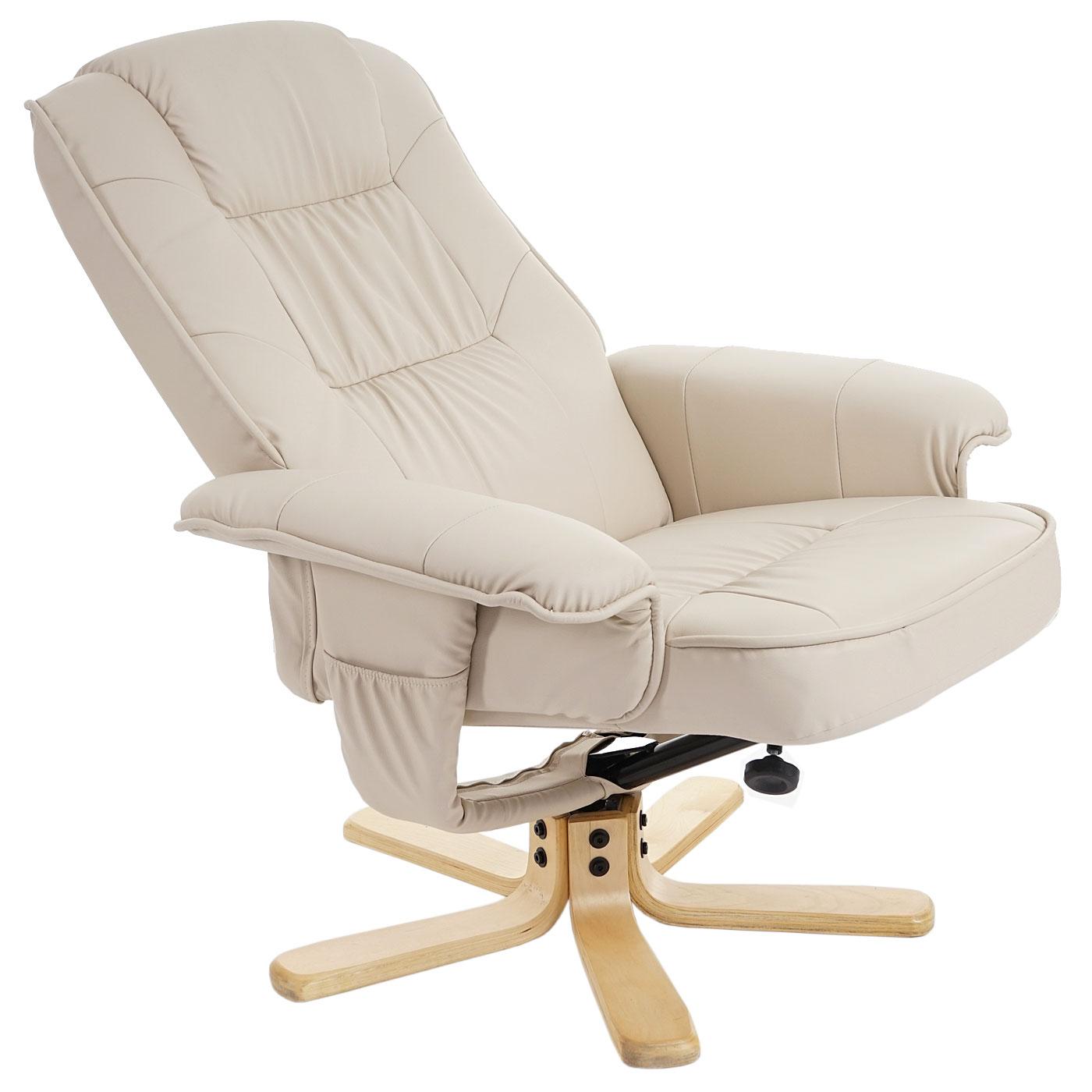 relaxsessel fernsehsessel sessel ohne hocker m56 kunstleder creme. Black Bedroom Furniture Sets. Home Design Ideas