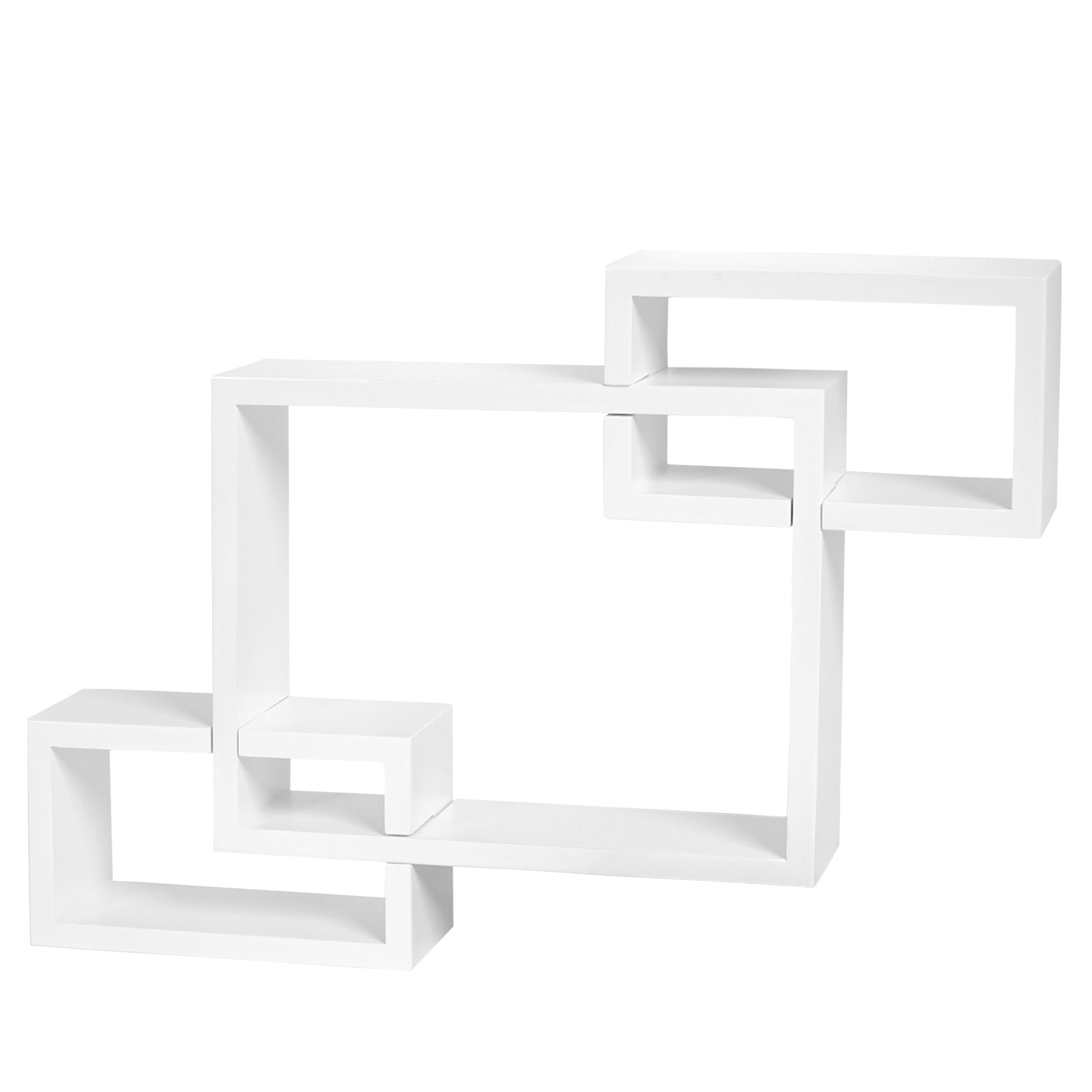 wandregal lund h ngeregal b cherregal 47x67x10cm wei. Black Bedroom Furniture Sets. Home Design Ideas