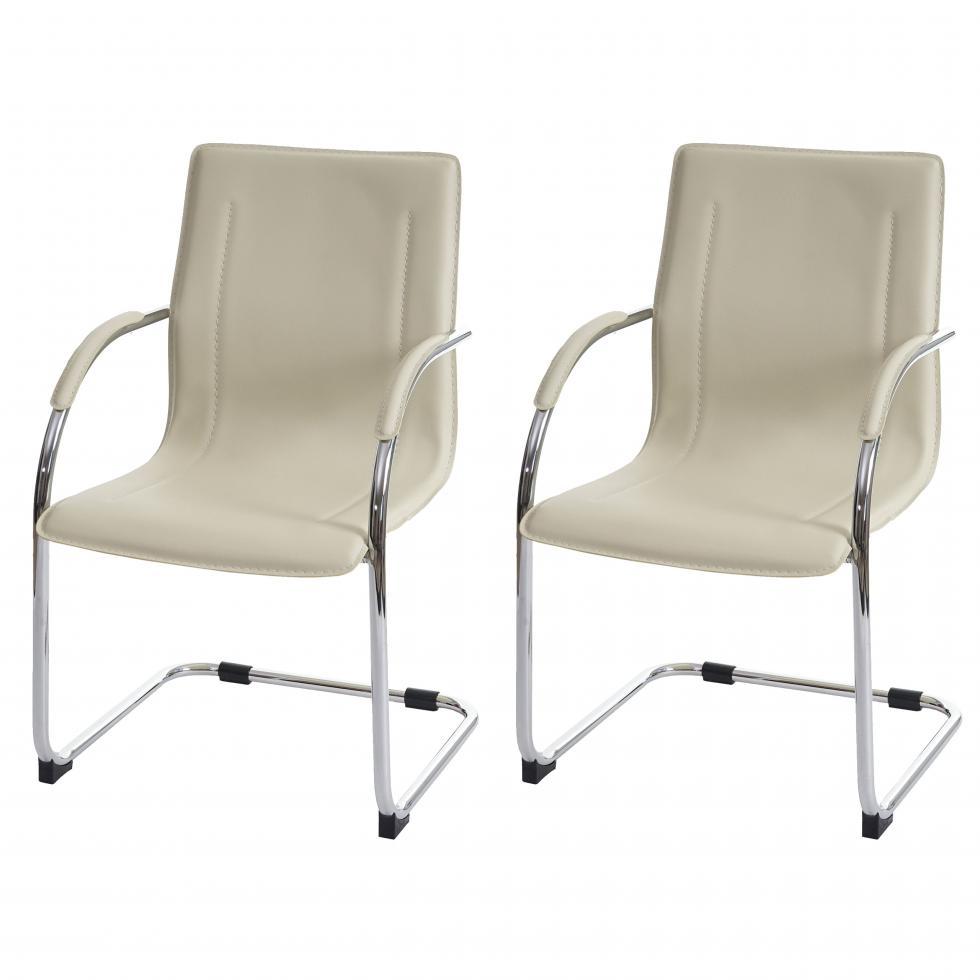 Set 2x sedie ufficio a slitta samara acciaio pvc for Sedie pvc design