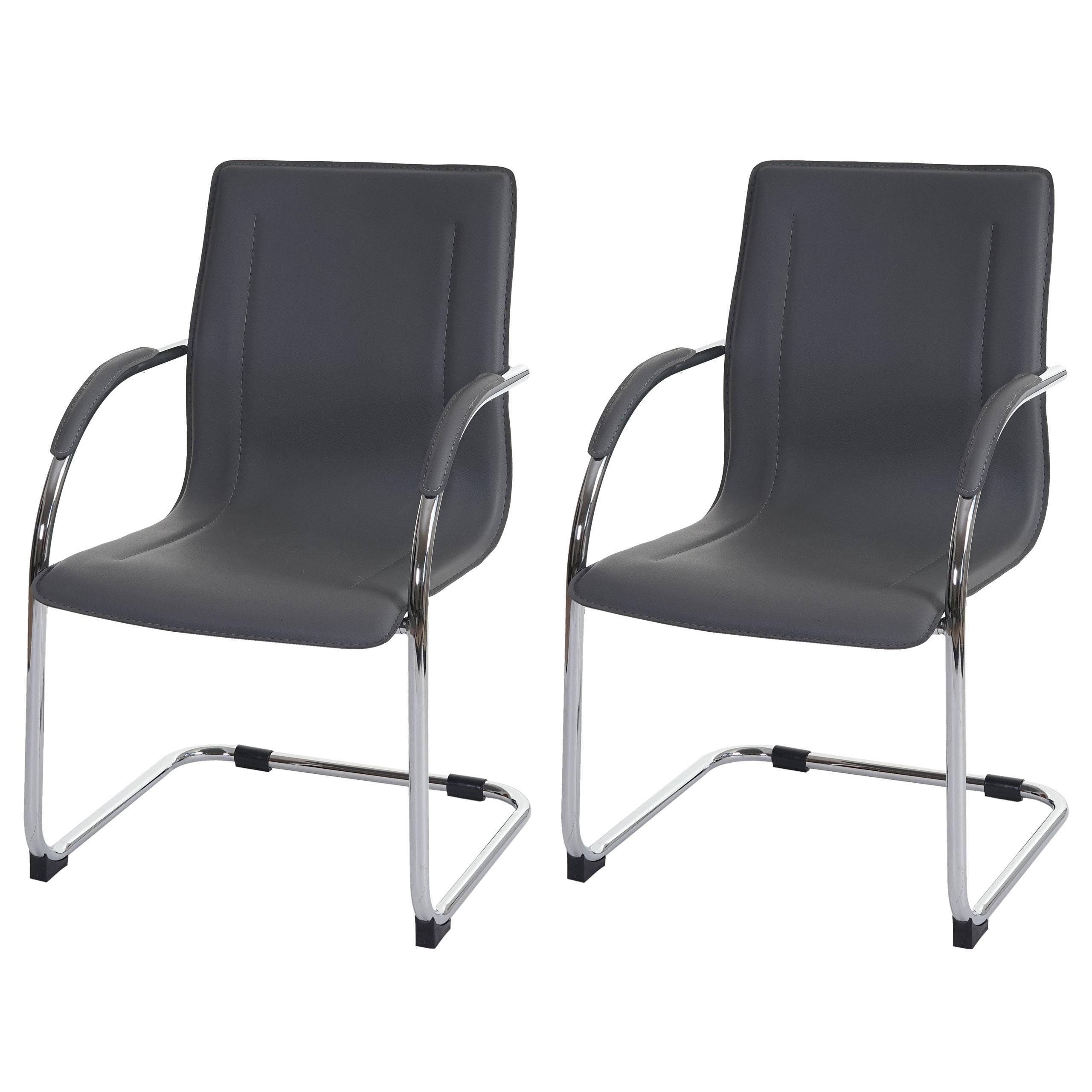 2x konferenzstuhl samara besucherstuhl freischwinger pvc. Black Bedroom Furniture Sets. Home Design Ideas