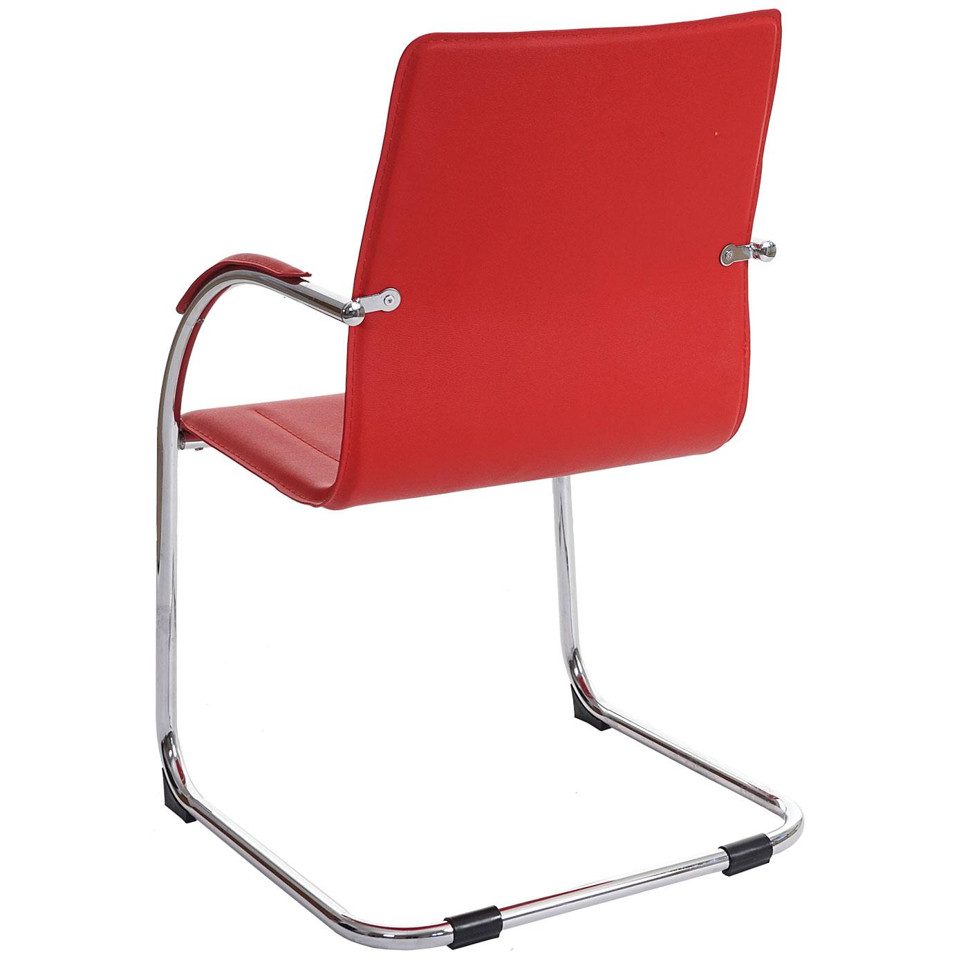 Set 2x sedie ufficio a slitta Samara acciaio ecopelle ...