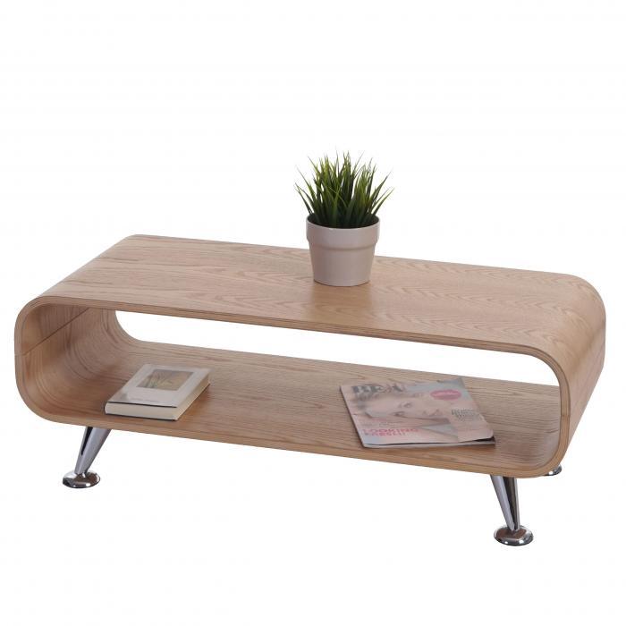 Couchtisch HWC-B97, Loungetisch Club Tisch, 34x90x39cm ~ Eiche natur