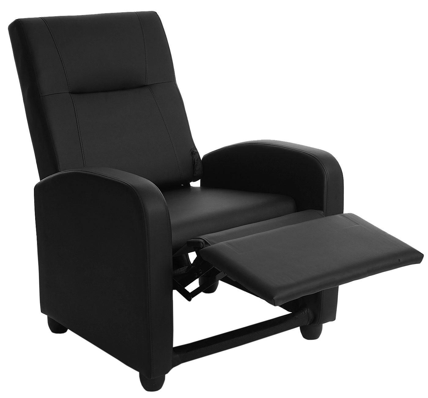fernsehsessel dallas basic relaxsessel relaxliege sessel kunstleder schwarz ebay. Black Bedroom Furniture Sets. Home Design Ideas