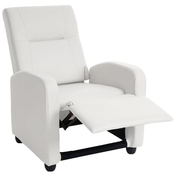 fernsehsessel denver basic relaxsessel relaxliege sessel kunstleder wei. Black Bedroom Furniture Sets. Home Design Ideas