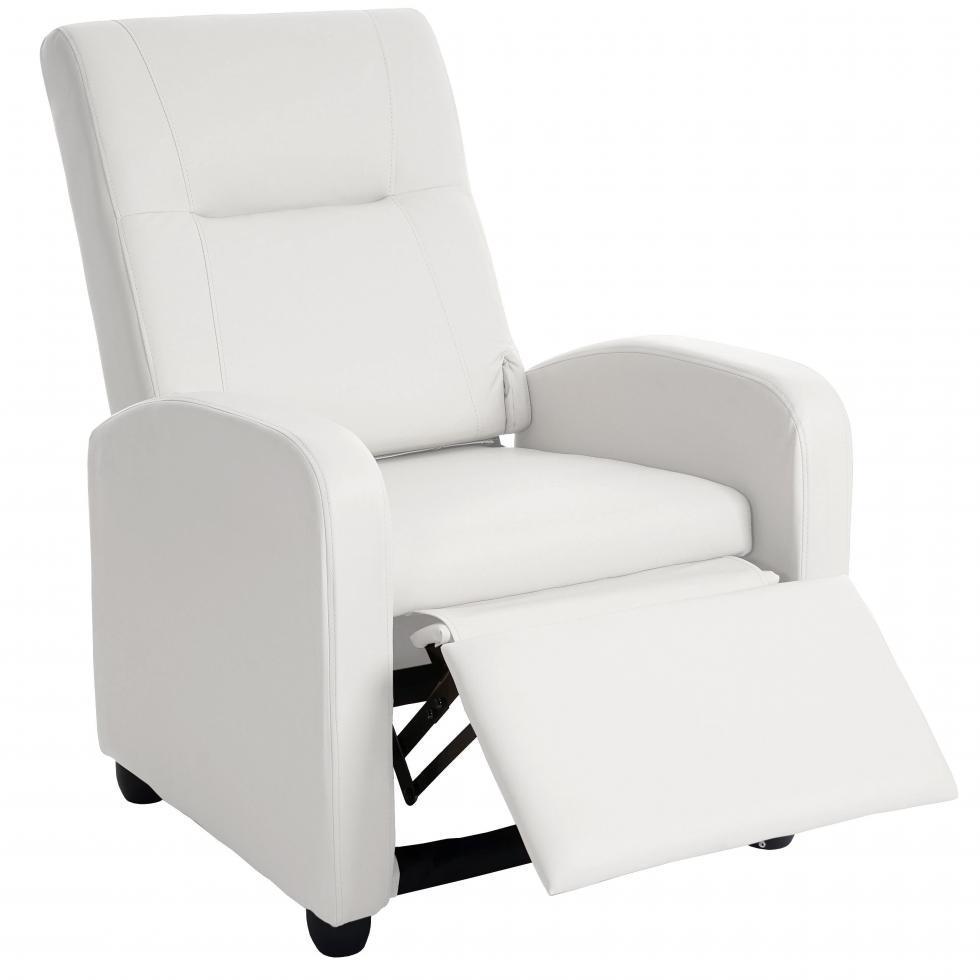 fernsehsessel dallas basic relaxsessel relaxliege sessel kunstleder wei ebay. Black Bedroom Furniture Sets. Home Design Ideas