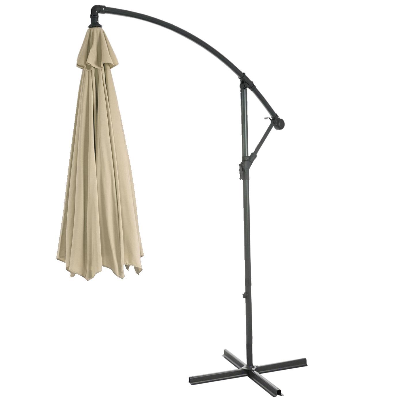semi profi ampelschirm acerra sonnenschutz 3m neigbar creme ohne st nder. Black Bedroom Furniture Sets. Home Design Ideas