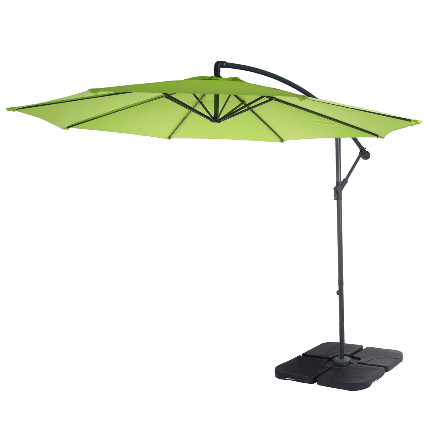 parasol d port semi pro acerra 3m inclinable vert limon avec support ebay. Black Bedroom Furniture Sets. Home Design Ideas