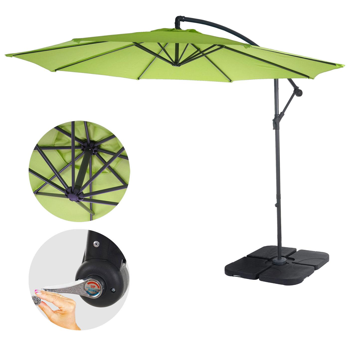 ampelschirm 3m gastronomie luxus ampelschirm sonnenschirm 3m garten alu ampelschirm. Black Bedroom Furniture Sets. Home Design Ideas