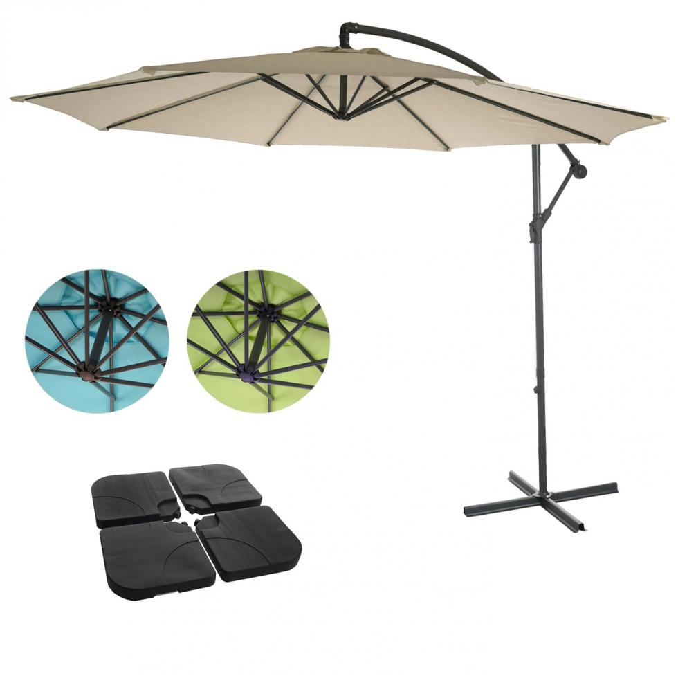 semi profi ampelschirm acerra sonnenschutz 3m neigbar mit ohne st nder ebay. Black Bedroom Furniture Sets. Home Design Ideas