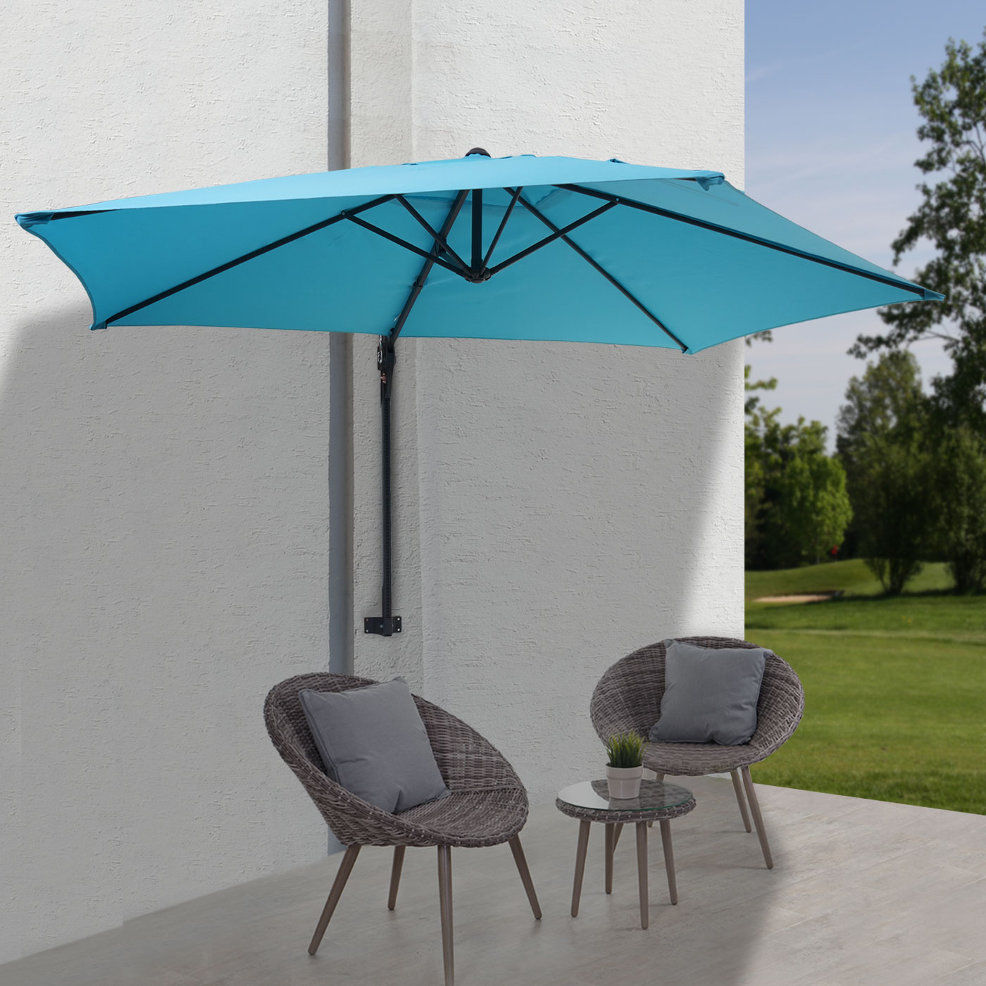 parasol mural casoria parasol d port pour le balcon 3m. Black Bedroom Furniture Sets. Home Design Ideas
