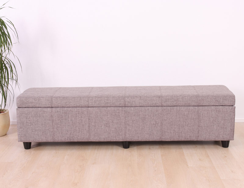banc banquette coffre de rangement kriens xxl 180x45x45cm tissu ebay. Black Bedroom Furniture Sets. Home Design Ideas