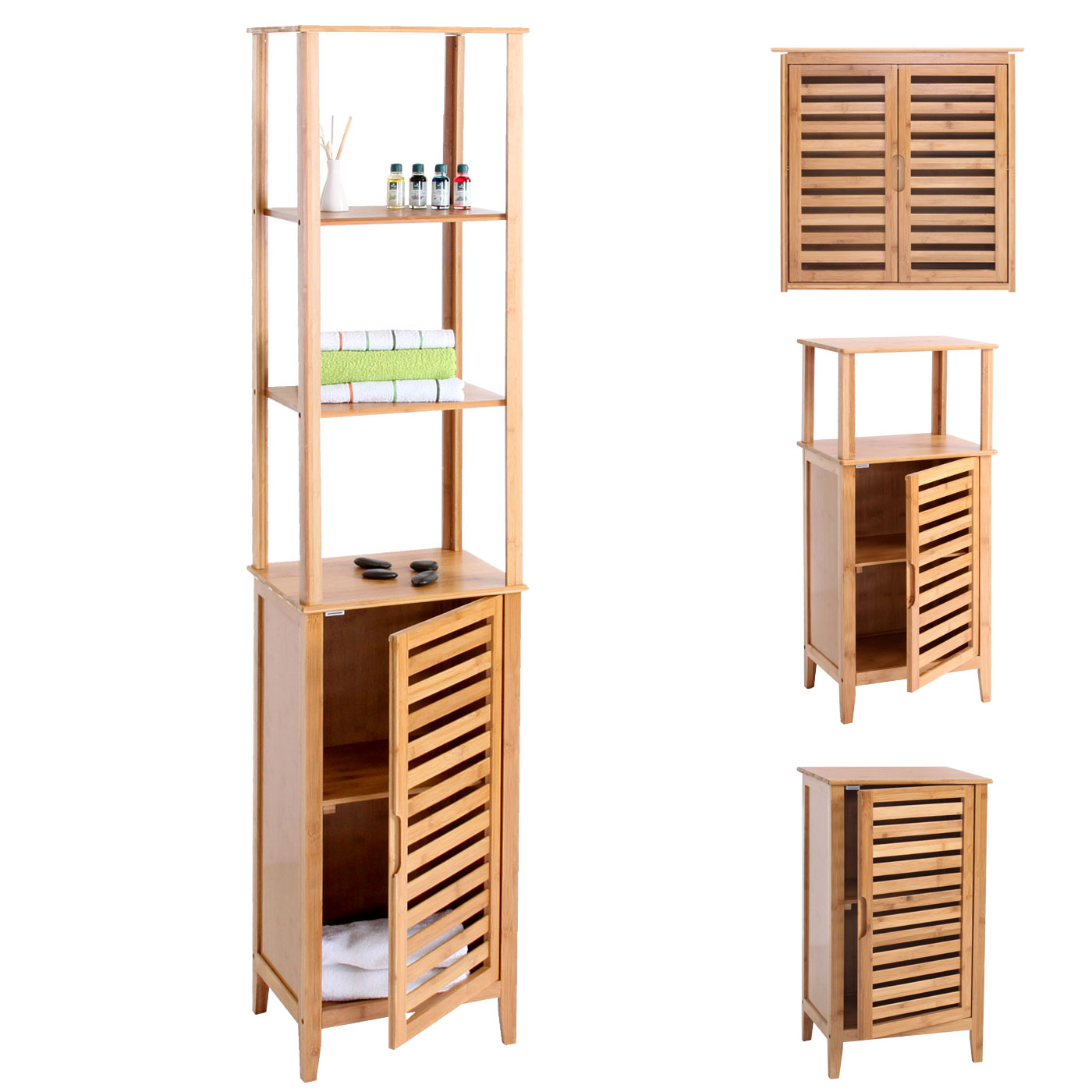 Badezimmer set narita badschrank badregal standregal mit for Badezimmer garnituren