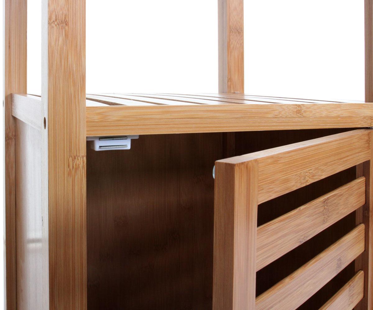 badezimmer set nara badschrank standregal w schekorb bambus 3 teilig ebay. Black Bedroom Furniture Sets. Home Design Ideas
