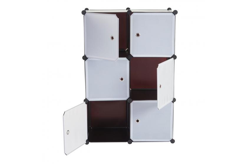 regalsystem sydney t307 steckregal schrank aufbewahrung 6 boxen je 36x36x36cm braun. Black Bedroom Furniture Sets. Home Design Ideas