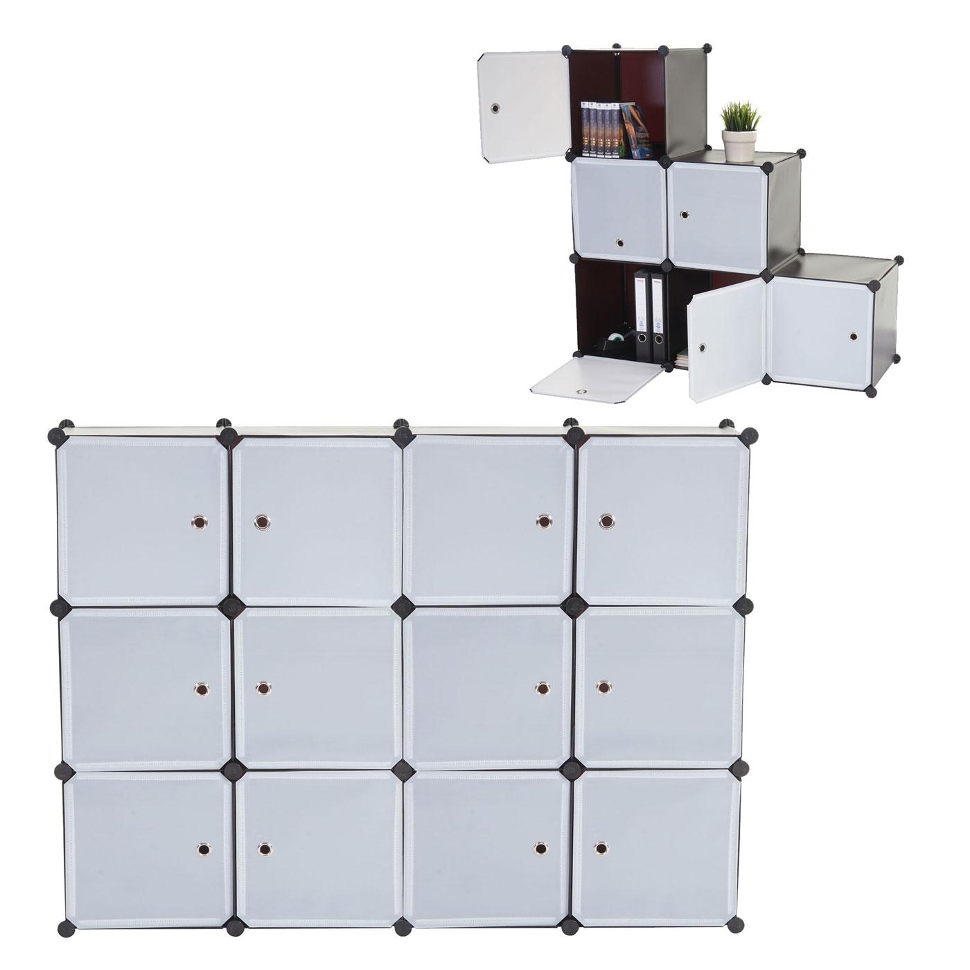regalsystem sydney t307 steckregal schrank aufbewahrung 12 boxen je 36x36x36cm braun. Black Bedroom Furniture Sets. Home Design Ideas