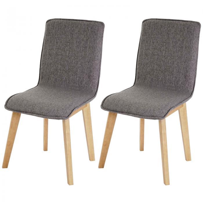 2x esszimmerstuhl zadar stuhl lehnstuhl retro 50er jahre design textil grau ohne naht. Black Bedroom Furniture Sets. Home Design Ideas