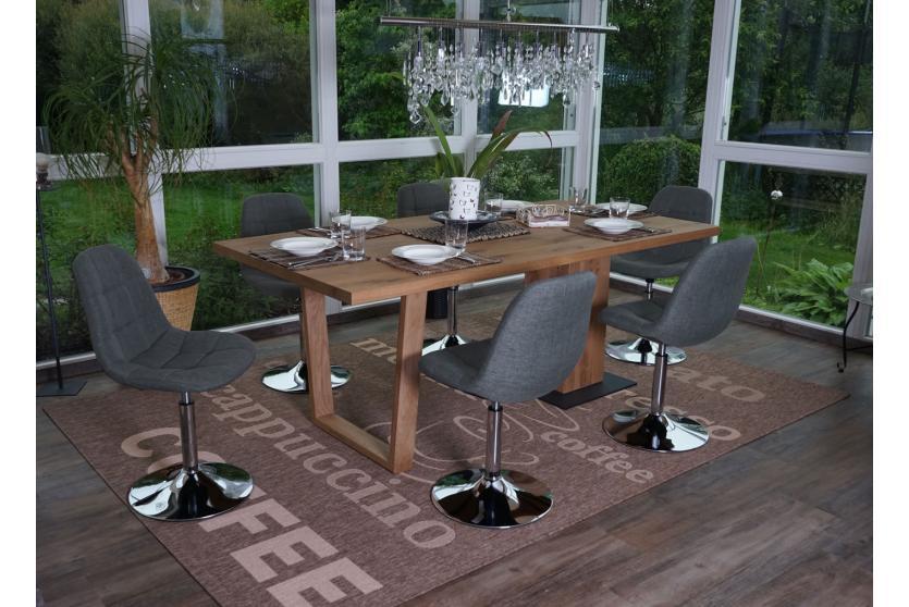 6x esszimmerstuhl pontedera drehstuhl stuhl chrom textil hellgrau ebay. Black Bedroom Furniture Sets. Home Design Ideas