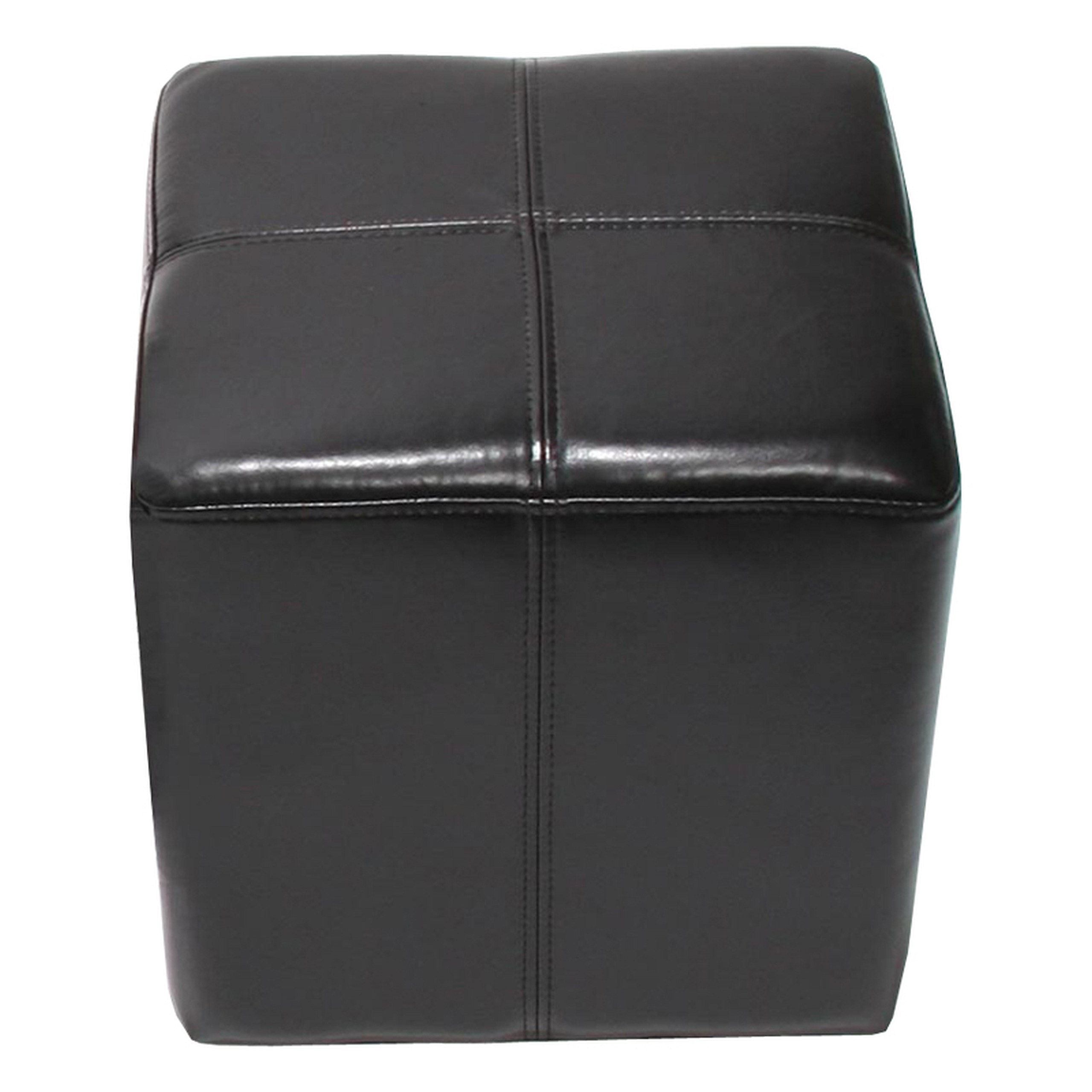 sitzw rfel hocker sitzhocker onex leder 36x36x36cm schwarz. Black Bedroom Furniture Sets. Home Design Ideas