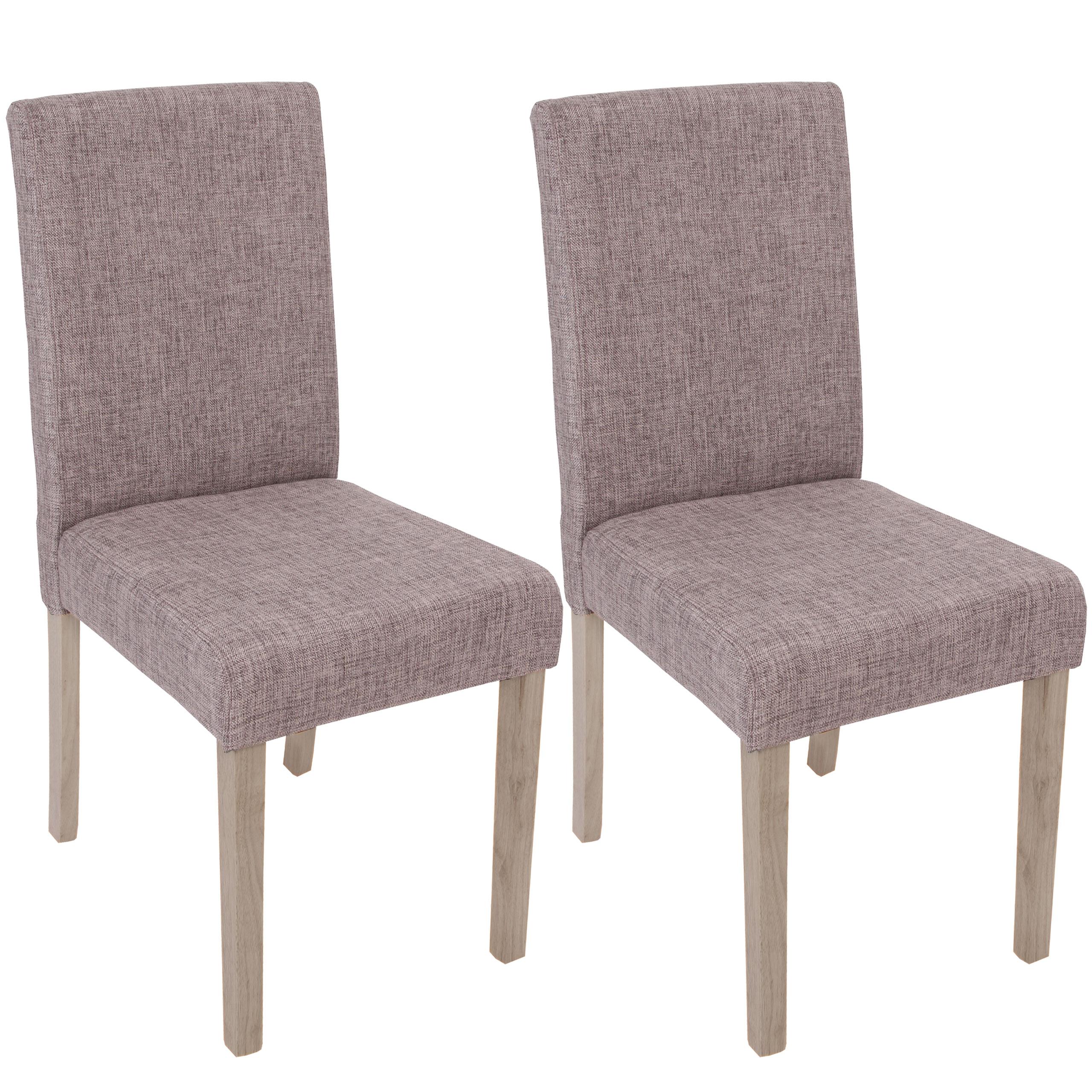 2x esszimmerstuhl littau stuhl lehnstuhl textil grau - Stuhl grau eiche ...