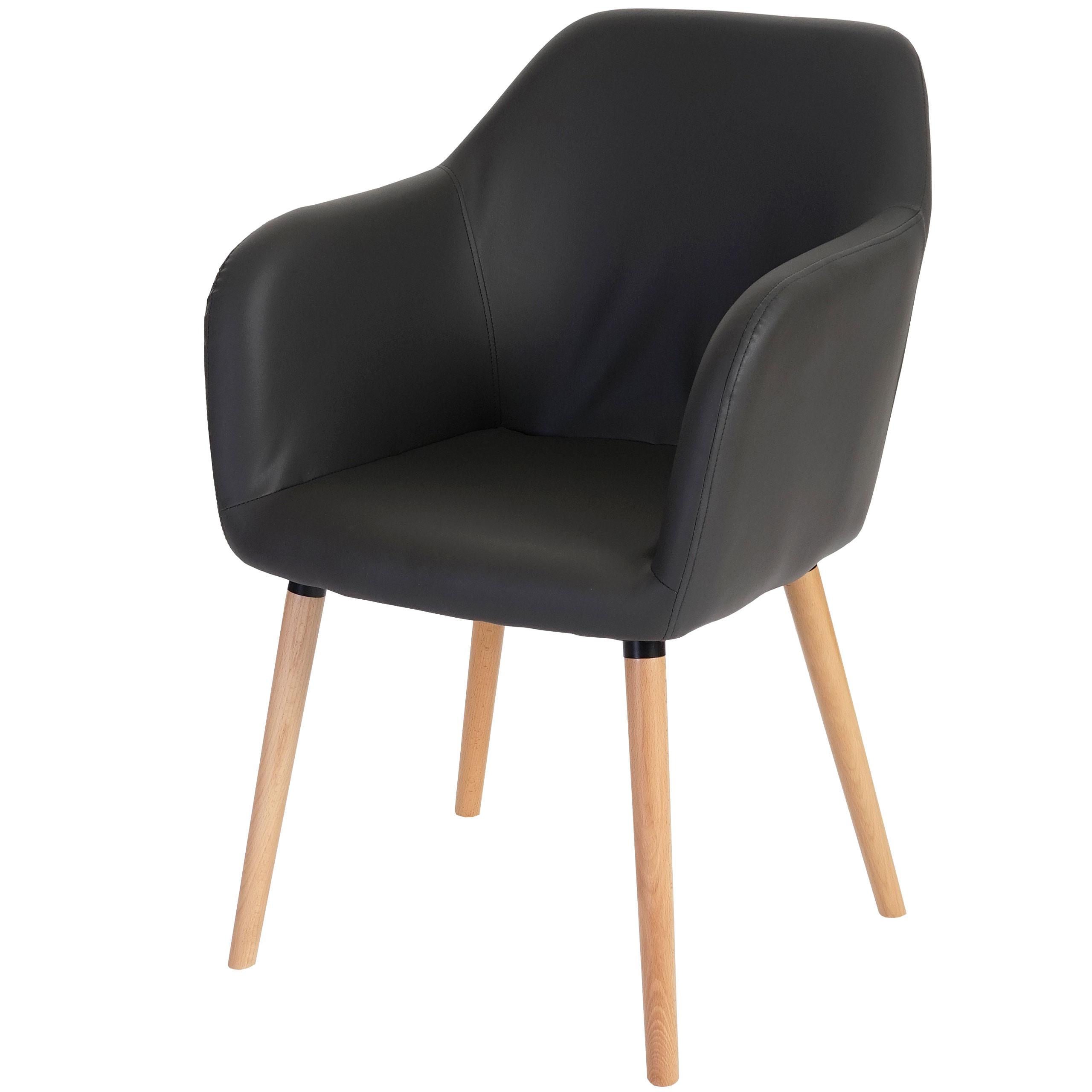 esszimmerstuhl malm t381 stuhl lehnstuhl retro 50er jahre design kunstleder grau. Black Bedroom Furniture Sets. Home Design Ideas