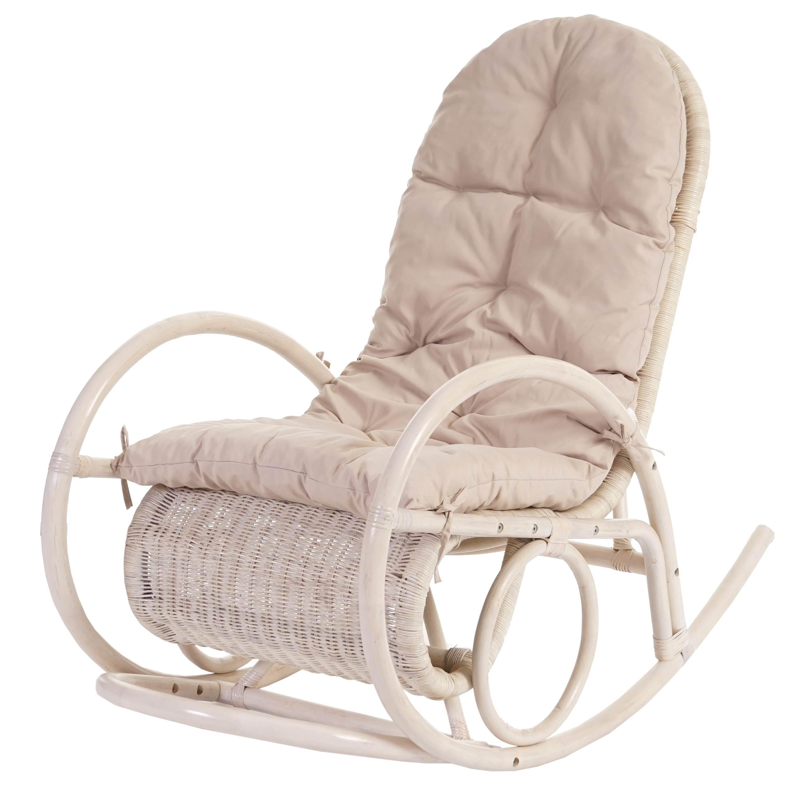Sedia a dondolo esmeraldas legno rattan 115x58x101cm - Ikea sedie a dondolo ...
