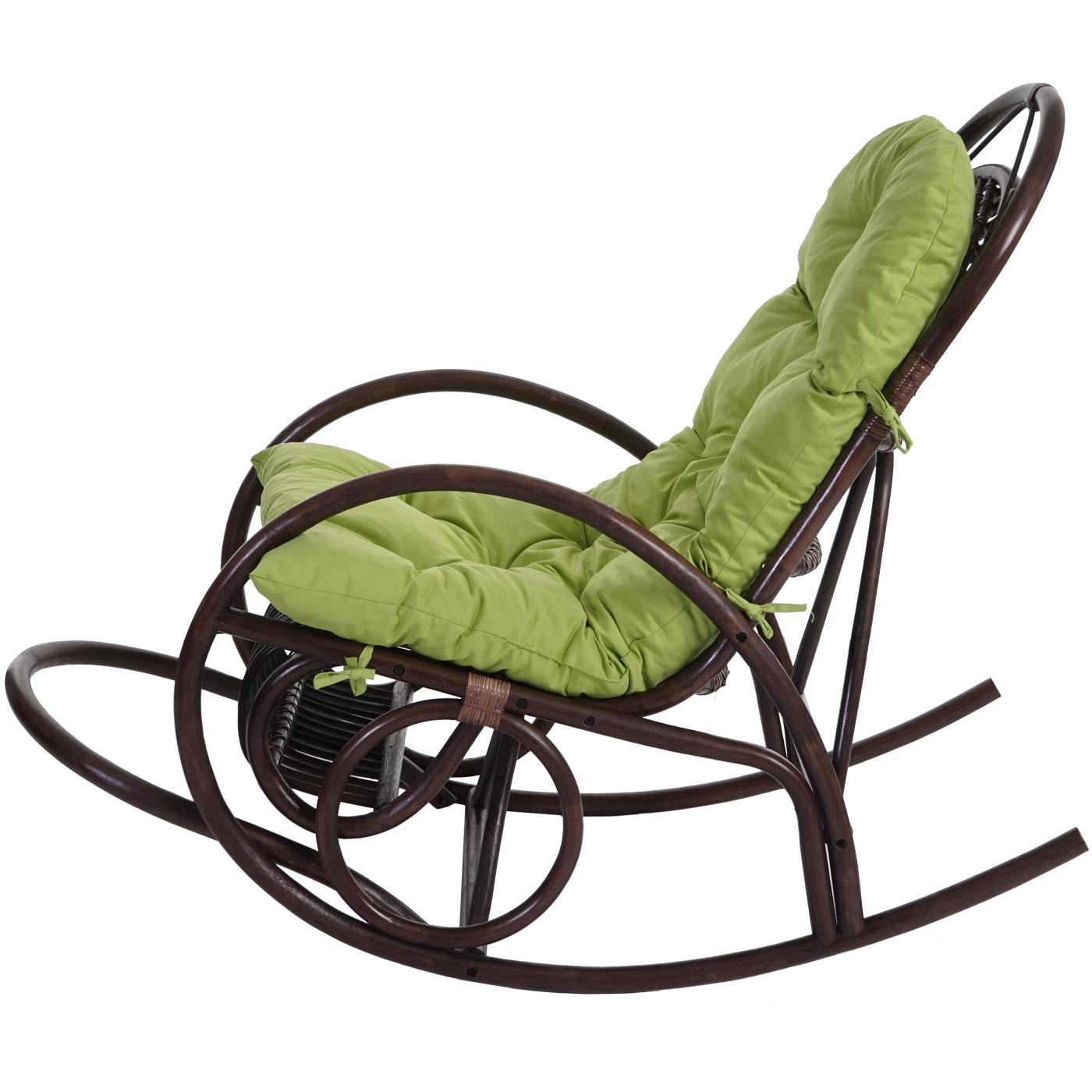 Sedia a dondolo hwc c40 139x58x110cm legno seduta poliestere cotone ebay - Cuscino per sedia a dondolo ...