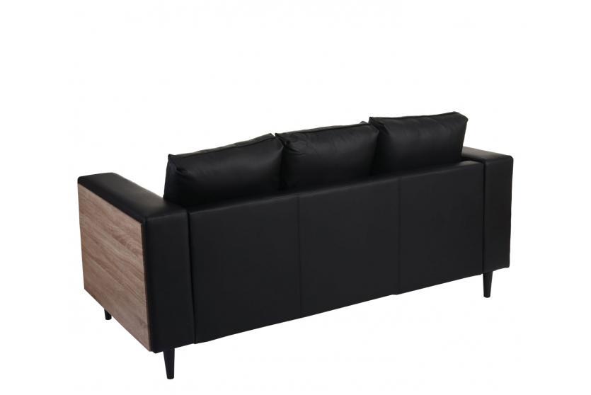 3er Sofa Nancy Couch Loungesofa Holz Eiche Optik