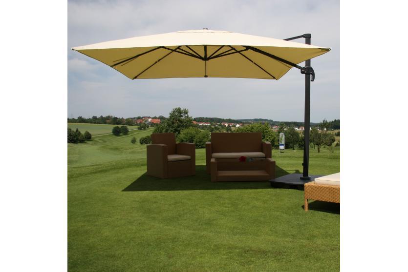 gastronomie luxus ampelschirm sonnenschirm n22 4 3 m creme mit st nder drehbar. Black Bedroom Furniture Sets. Home Design Ideas