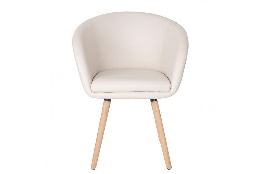 esszimmerstuhl malm t633 stuhl lehnstuhl retro 50er jahre design kunstleder creme. Black Bedroom Furniture Sets. Home Design Ideas