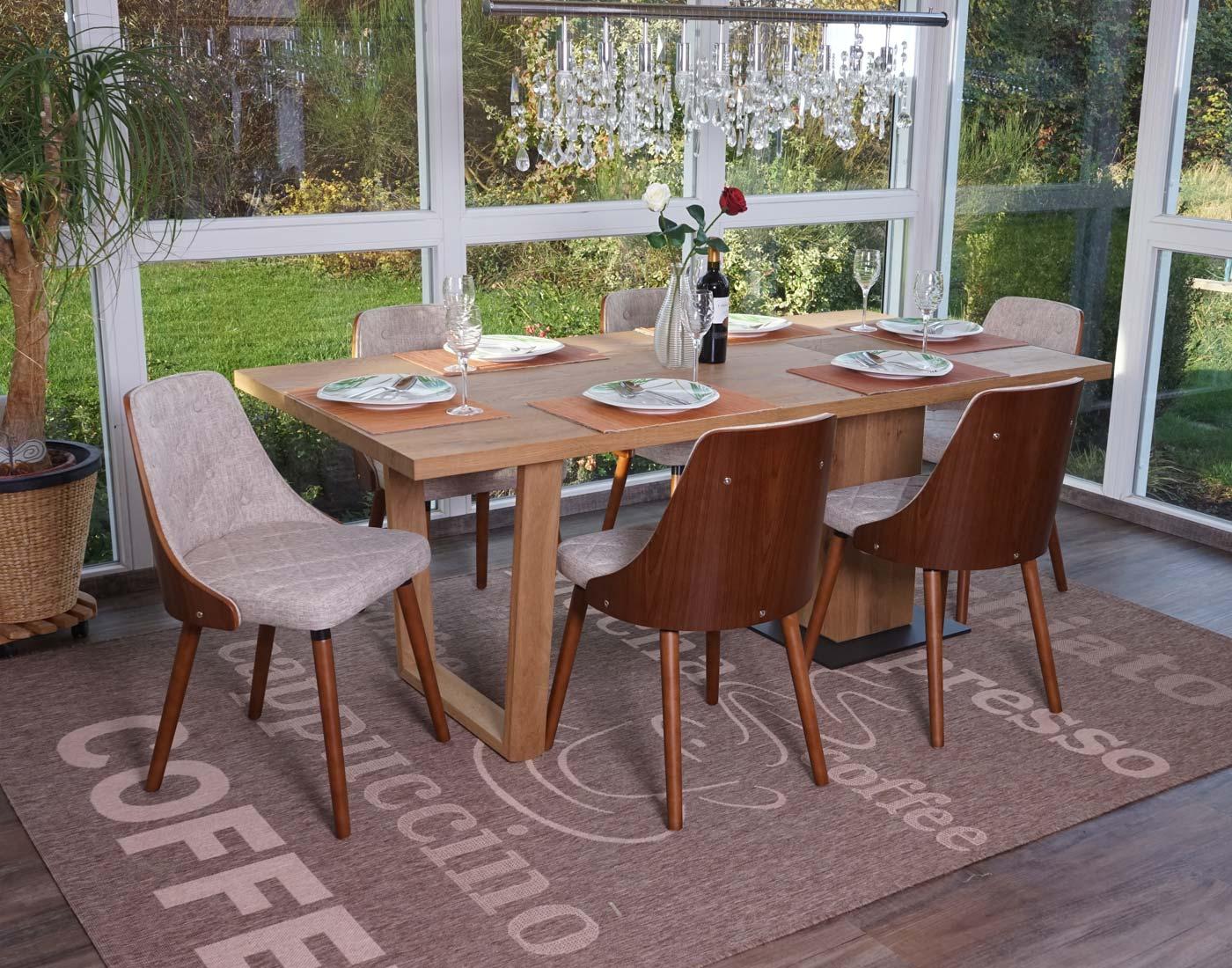 Set 6x sedie sala da pranzo soggiorno hwc a75 53x50x82cm for Sedie sala pranzo