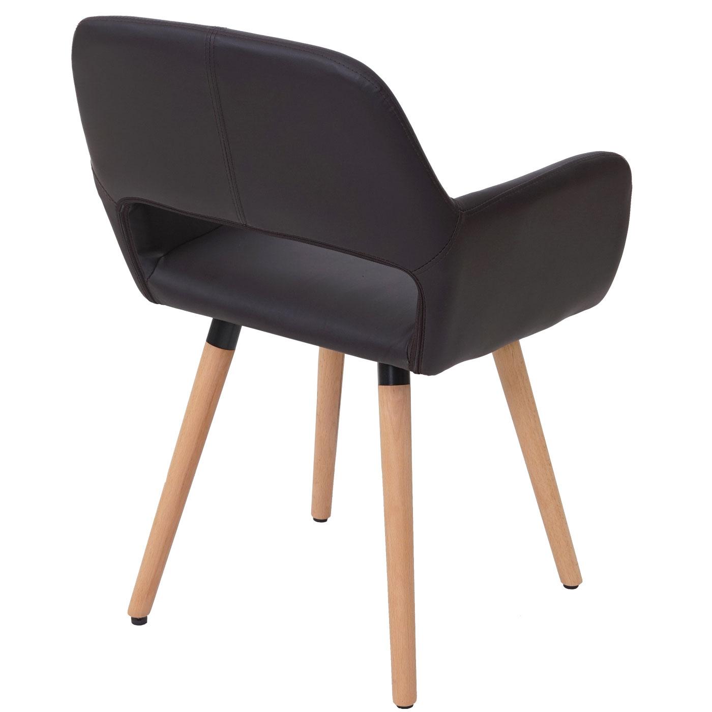esszimmerstuhl hwc a50 ii stuhl lehnstuhl retro 50er jahre design kunstleder braun. Black Bedroom Furniture Sets. Home Design Ideas