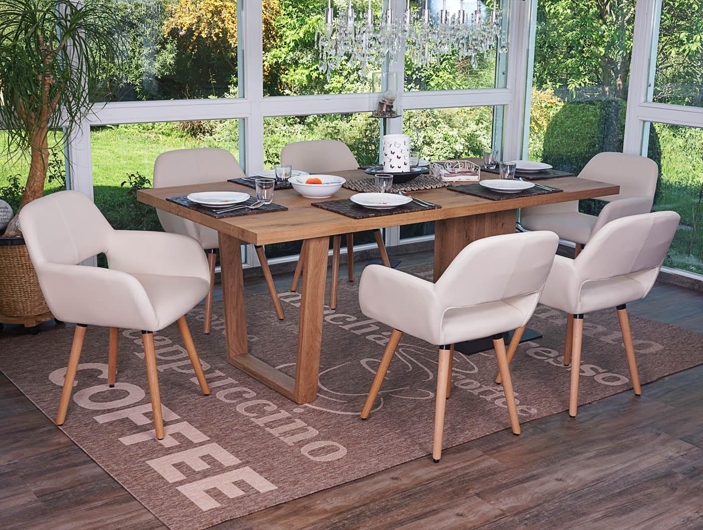 Set 6x sedie sala da pranzo hwc a50 ii design retro legno versione a scelta ebay - Sedie sala da pranzo ...
