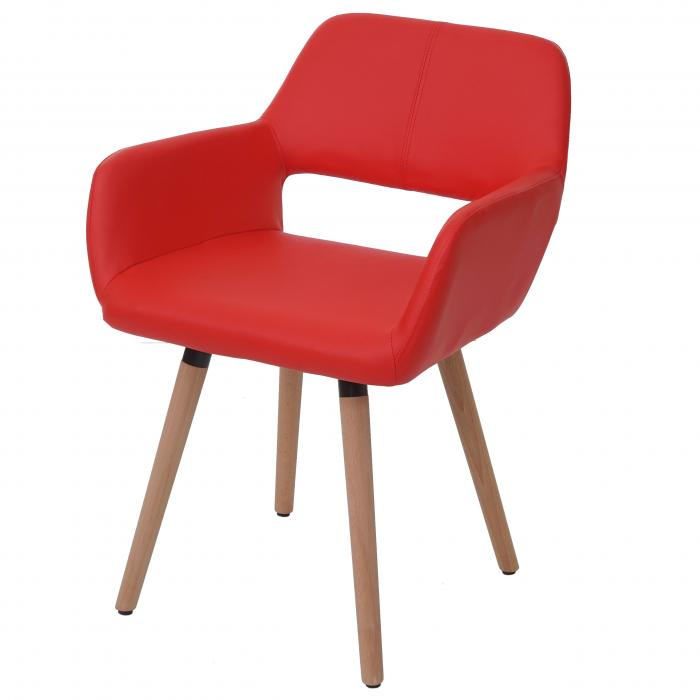 Esszimmerstuhl hwc a50 ii stuhl lehnstuhl retro 50er for Design stuhl rot