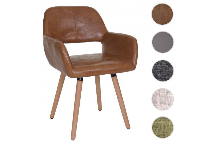 esszimmerstuhl hwc a50 ii stuhl lehnstuhl retro 50er jahre design kunstleder wildlederimitat. Black Bedroom Furniture Sets. Home Design Ideas