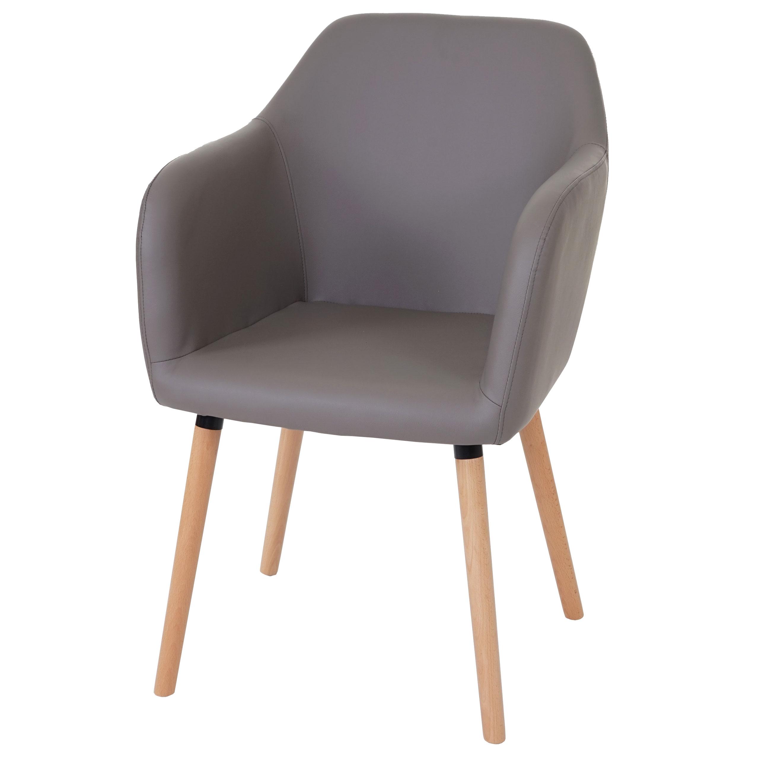 esszimmerstuhl malm t381 stuhl lehnstuhl retro 50er jahre design kunstleder taupe. Black Bedroom Furniture Sets. Home Design Ideas