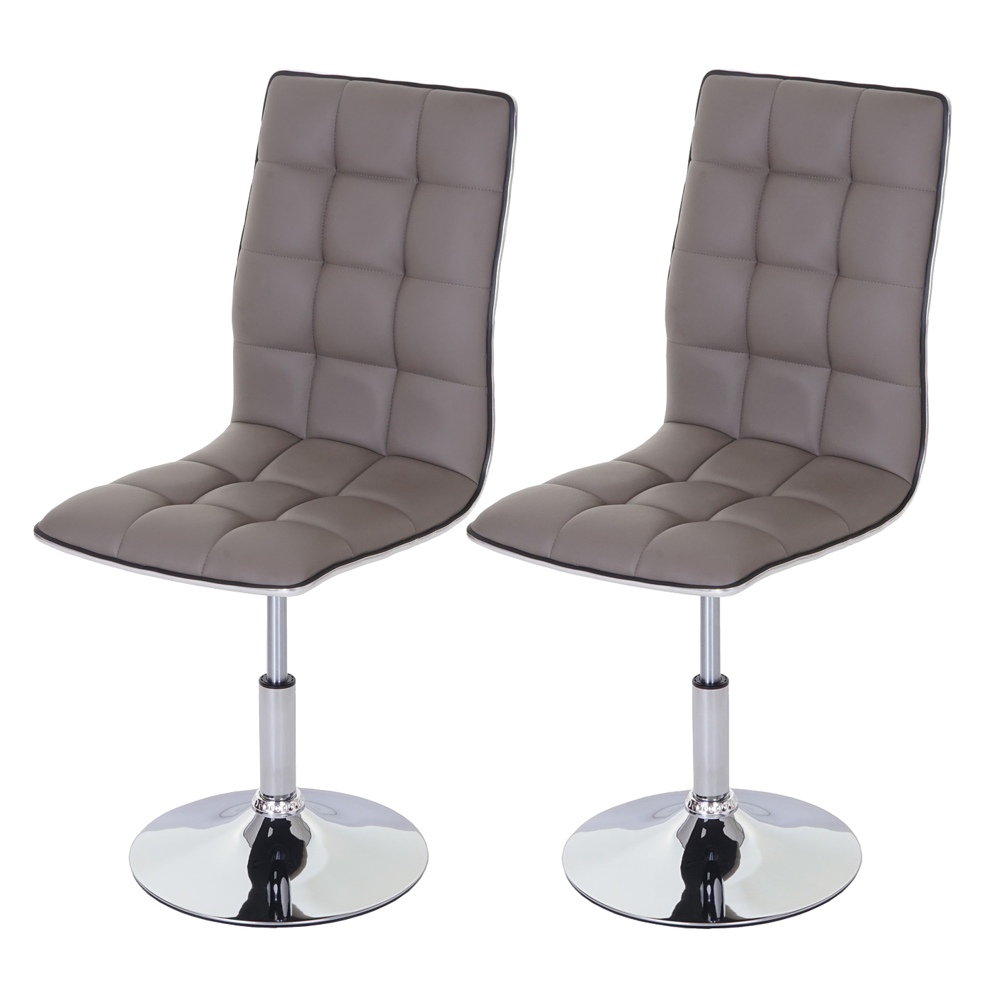 2x esszimmerstuhl hwc c41 stuhl lehnstuhl h henverstellbar drehbar kunstleder taupe