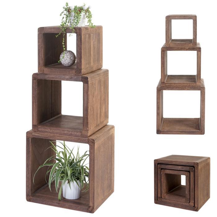 3x w rfelregal trani standregal beistelltisch shabby. Black Bedroom Furniture Sets. Home Design Ideas