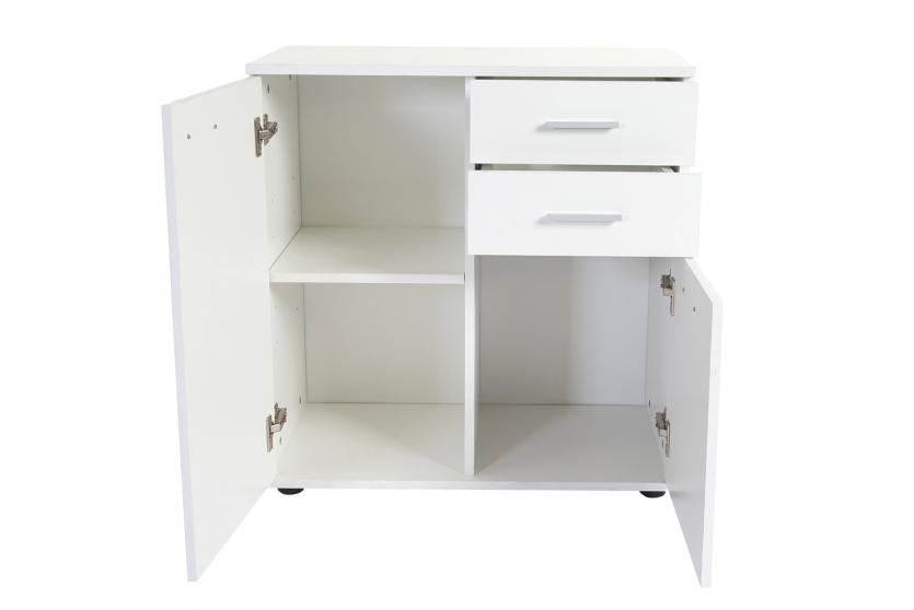 highboard cleveland schubladenschrank wei hochglanz 76x71x35cm ebay. Black Bedroom Furniture Sets. Home Design Ideas